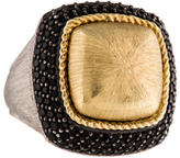Jude Frances Two-Tone Black Spinel Cocktail Ring