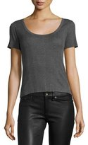 Rag & Bone '90s Ribbed Scoop-Neck Tee, Heather Gray