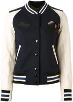 Coach patch-embellished varsity jacket - women - Leather/Nylon/Viscose/Wool - 12