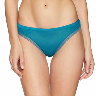 OnGossamer Women's Intimate Apparel Next to Nothing Mesh Low-Rise Thong Panty