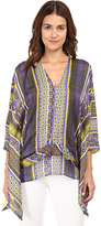 Just Cavalli V-Neck Tribal Printed Top Women's Long Sleeve Pullover