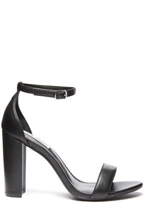 Steve Madden Black Carrson Ankle Strap Sandal Black 6