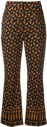 Alberta Ferretti Multi-Pattern Trousers