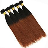 Eecamail 7A Brazilian Ombre Virgin Straight Hair 9 Bundles 24 inch 100% Human Hair Weave Extensions 100g/pc #1b/33 Color