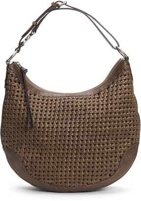 Frye Melissa Woven Leather Hobo