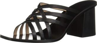 Rachel Zoe Women's Kate Peep Toe Mule Heeled Sandal Black 7 M US