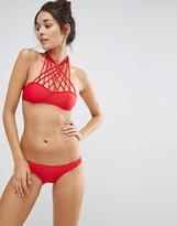 Little Mistress Bikini Set with Cross Strap Detail
