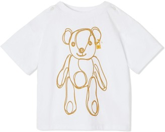 BURBERRY KIDS chain print T-shirt