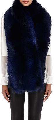 LILLY e VIOLETTA Women's Fox Fur Scarf - Navy