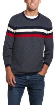 Weatherproof Vintage Men's Ski Stripe Crew Neck Sweater
