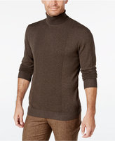 Alfani Men's Regular Fit Texture Turtleneck Sweater, Only at Macy's