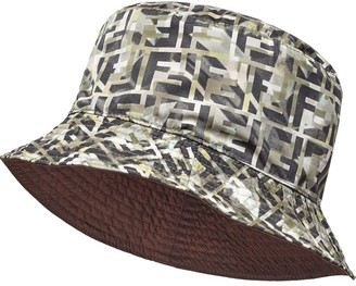 Fendi reversible FF motif hat