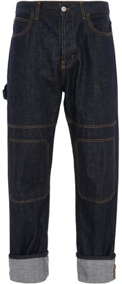 J.W.Anderson Patched Turn-Up Hem Jeans