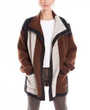Max Studio Colorblock Women's Sweater Coat (59% Off) - Comparable Value $98