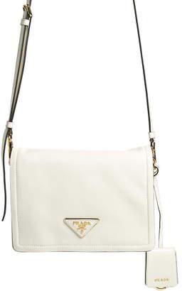 Prada Small Glace Calfskin Leather Crossbody Bag