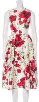 Dolce & Gabbana Spring 2016 Poppy & Daisy Print Dress
