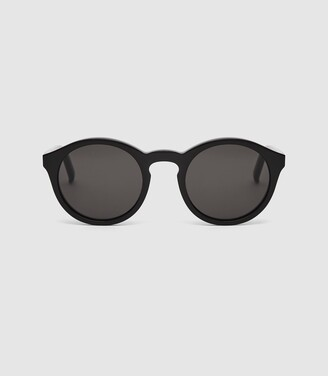 Reiss Barstow - Monokel Eyewear Keyhole Sunglasses in Black