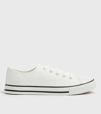 New Look Canvas Stripe Sole Trainers