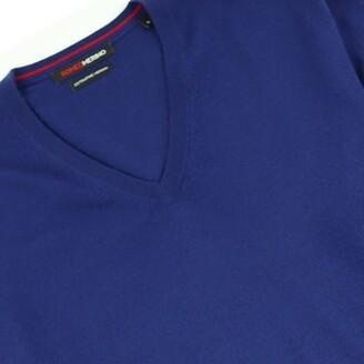 Romeo Merino - Merino Wool V-Neck Sweater Prussian Blue