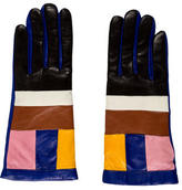 Missoni Multicolor Leather Gloves w/ Tags