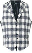 Tagliatore checked vest - men - Cotton/Linen/Flax/Acrylic/Cupro - 50