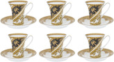 Versace I Love Baroque Cup & Saucer - Set of 6 - White