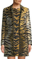 RED Valentino Tiger Brocade Double-Breasted Coat
