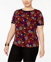 Anne Klein Plus Size Button-Back Blouse