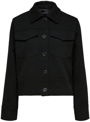 Selected Black Pixie Short Jacket - Black / 34