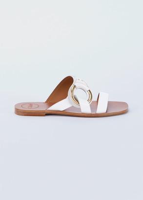 Chloé Demi Two-Band Flat Sandals