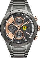 Ferrari Scuderia Men's Chronograph RedRev Evo Gunmetal Ion-Plated Stainless Steel Bracelet Watch 46mm 0830304