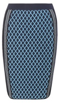 Versace Knitted Wool-blend Stretch Skirt