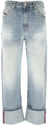 Diesel High Waist Boyfriend Jeans