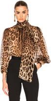 Dolce & Gabbana Chiffon Leopard Print Blouse