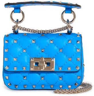 Valentino Garavani Micro Rockstud Spike It Leather Shoulder Bag