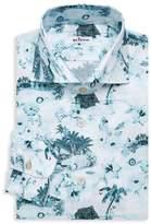 Kiton Birds In The Trees Dress Shirt