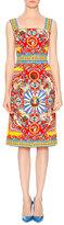 Dolce & Gabbana Sleeveless Carretto-Print Dress, Red/Yellow/Blue