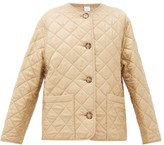 Burberry Bardsey Quilted Logo-jacquard Twill Jacket - Womens - Beige