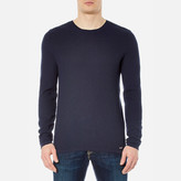 Hugo Salexo Crew Neck Knitted Jumper Navy
