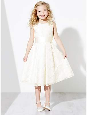 John Lewis & Partners Girls' Charlotte Lace Bridesmaid Dress, Ivory