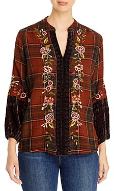 Johnny Was Uccello Embroidered Paris Blouse