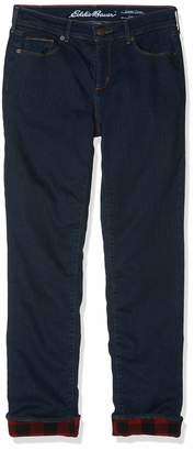 Eddie Bauer Women's StayShape Slim Straight Jeans-Fleecegefuttert