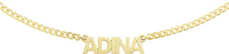 Adina's Jewels Personalized Mini Nameplate Chain Choker Necklace in Gold Vermeil