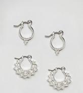 Asos Pack of 2 Mini Festival Hoop Earrings