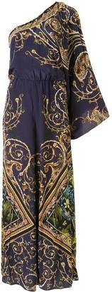 Camilla Baroque-Print One Shoulder Jumpsuit