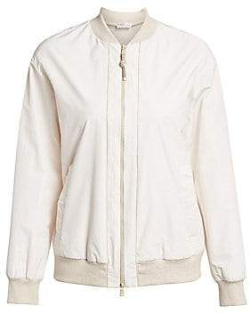 Brunello Cucinelli Women's Double Zip Bomber Jacket