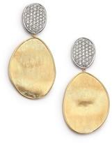 Marco Bicego Lunaria Diamond & 18K Yellow Gold Large Drop Earrings
