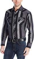 Wrangler Men's Western Flannel Lightweight Stripe Shirt