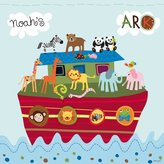 BabyCentre Happy Spaces (54 x 54 x 2 cm) Kids Wall Art Canvas Print Noah's Ark by Lesley Grainger