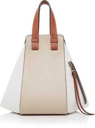 Loewe Small Hammock Color-Block Leather Bag